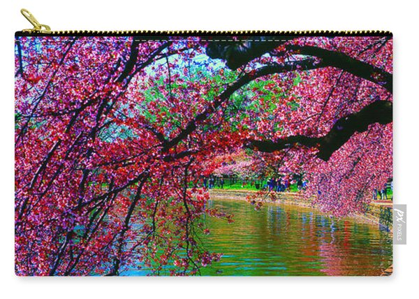 Cherry Blossom Walk Tidal Basin At 17th Street Carry-all Pouch