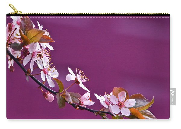 Cherry Blossoms And Plum Door Carry-all Pouch