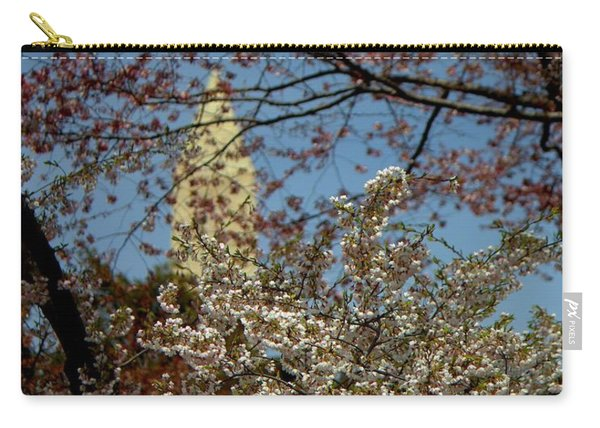 Cherry Blossoms And The Monument Carry-all Pouch