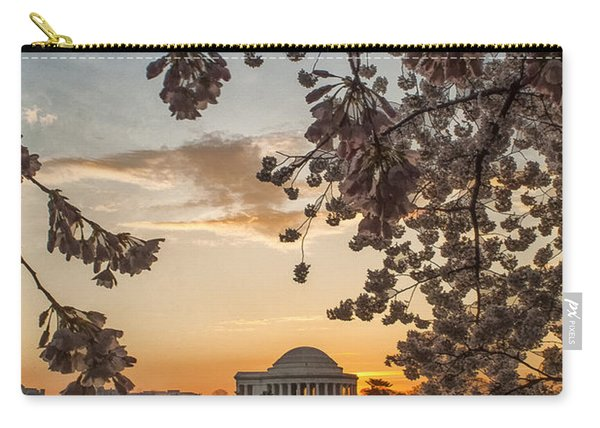 Cherry Sunrise Burst Carry-all Pouch