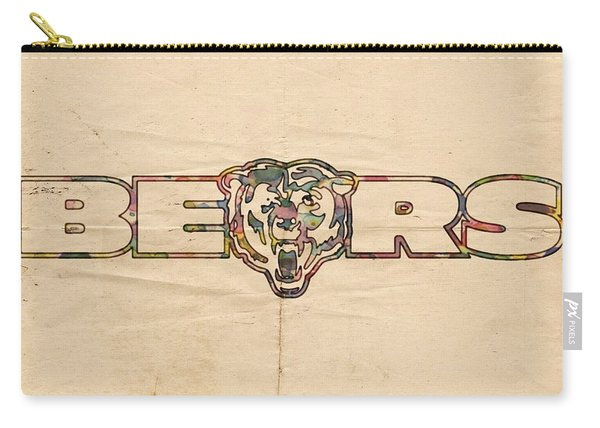 Chicago Bears Vintage Art Carry-all Pouch