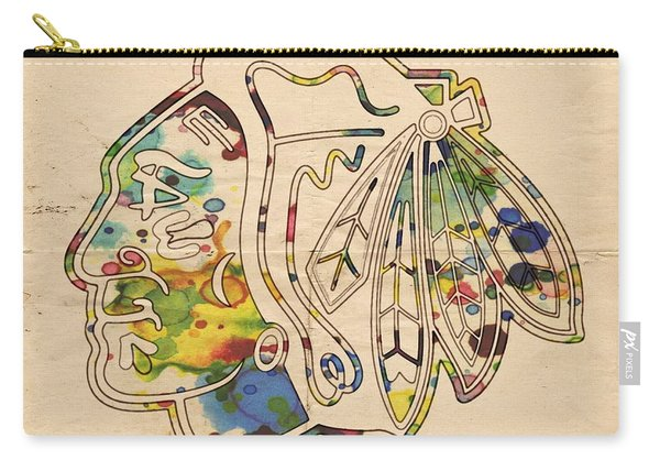 Chicago Blackhawks Poster Art Carry-all Pouch