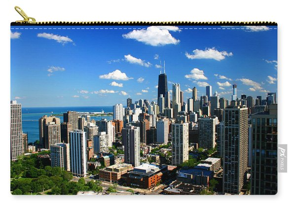 Chicago Buildings Skyline Clouds Carry-all Pouch