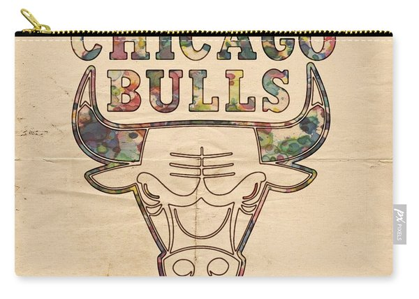 Chicago Bulls Logo Vintage Carry-all Pouch