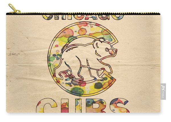 Chicago Cubs Vintage Poster Carry-all Pouch