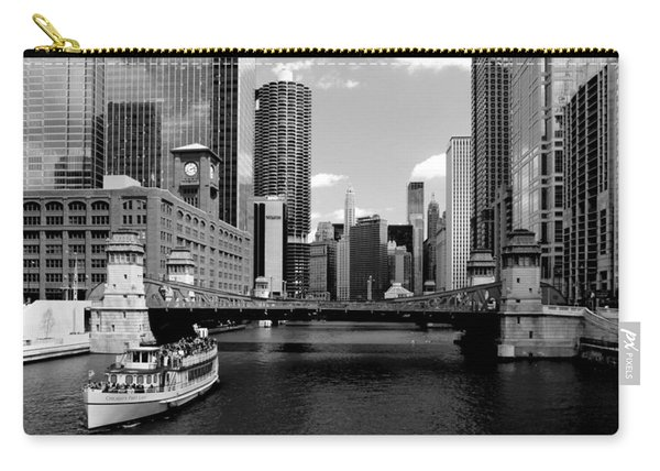Chicago River Skyline Bridge Boat Carry-all Pouch