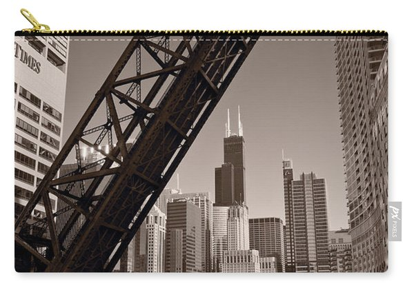 Chicago River Traffic Bw Carry-all Pouch