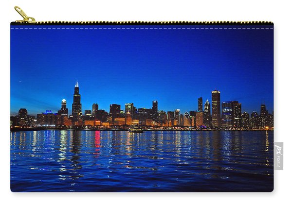 Chicago Skyline At Dusk Carry-all Pouch