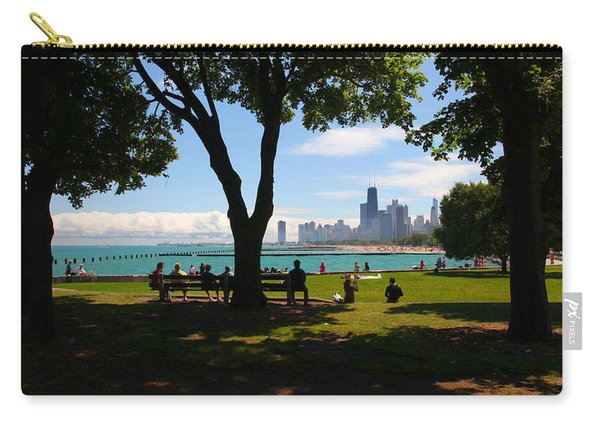 Chicago Skyline Lakefront Park Carry-all Pouch
