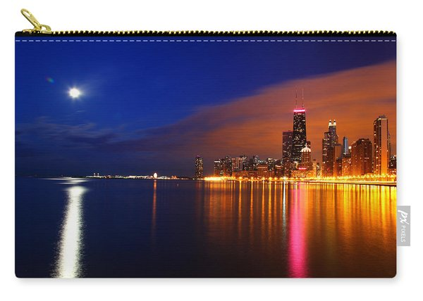 Chicago Skyline Moonlight Carry-all Pouch