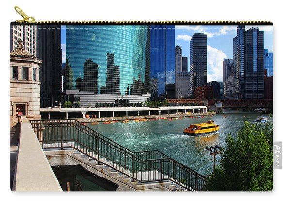 Chicago Skyline River Boat Carry-all Pouch
