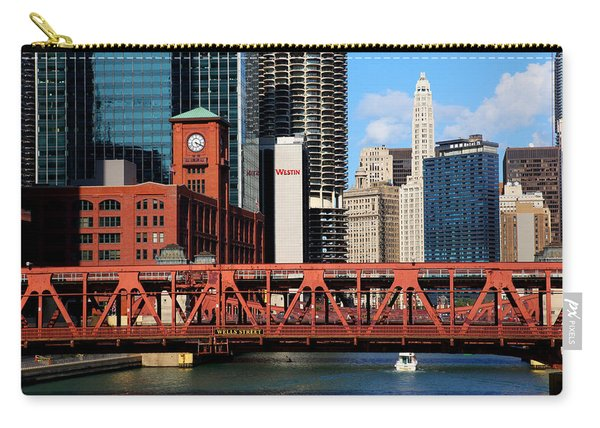 Chicago Skyline River Bridge Carry-all Pouch