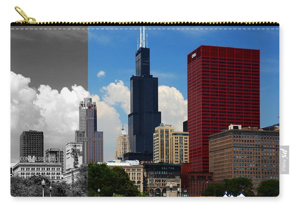 Chicago Skyline Sears Tower Carry-all Pouch