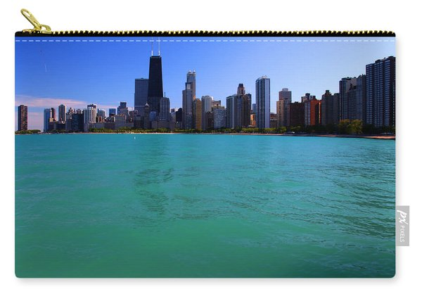 Chicago Skyline Teal Water Carry-all Pouch