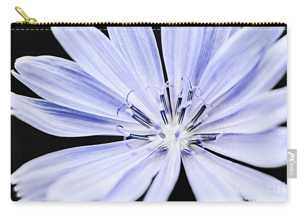 Chicory Flower Macro Carry-all Pouch