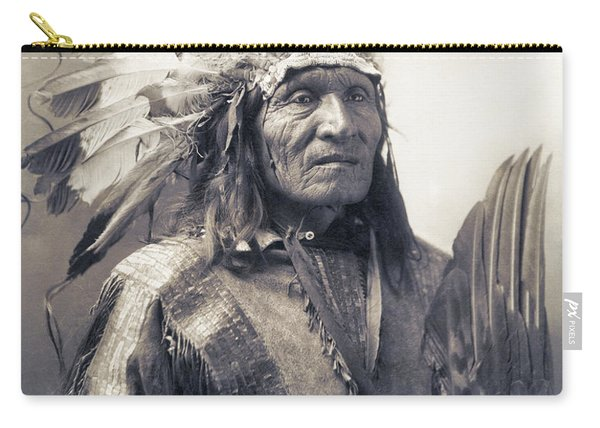 Chief He Dog Of The Sioux Nation  C. 1900 Carry-all Pouch