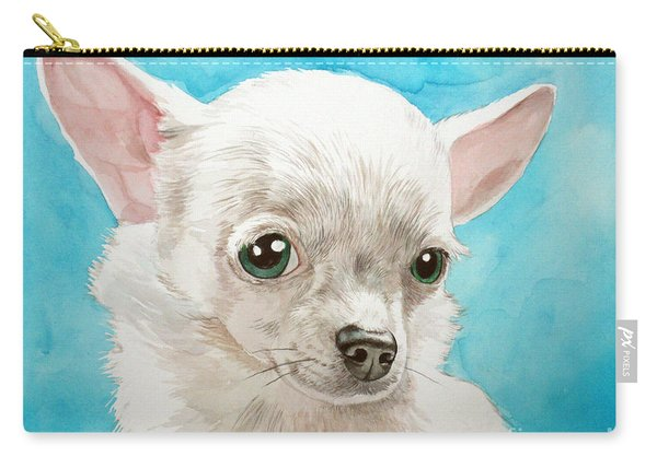 Chihuahua Dog White Carry-all Pouch