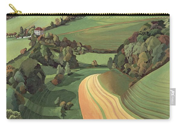 Chilcombe Bottom, Bath Oil On Canvas Carry-all Pouch