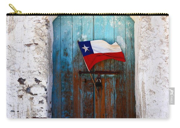 Chilean Flag On Church Door Carry-all Pouch