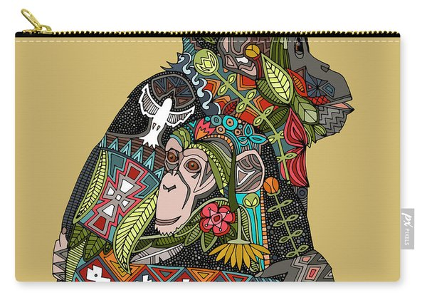 Chimpanzee Love Biscuit Carry-all Pouch