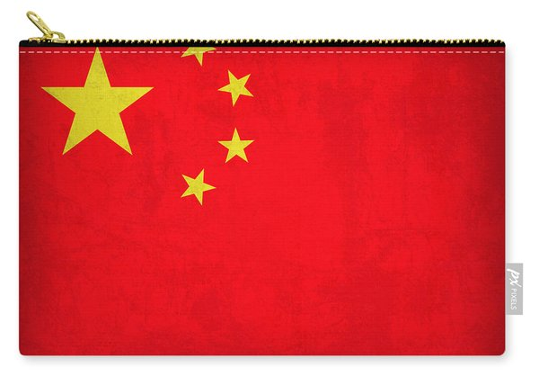China Flag Vintage Distressed Finish Carry-all Pouch