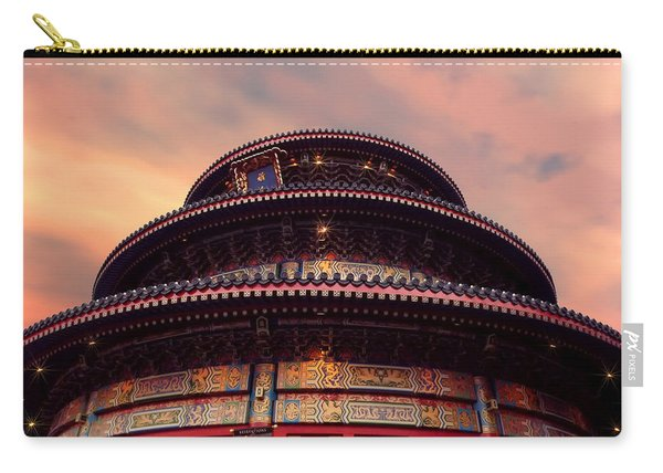 China Pavilion At Sunset Carry-all Pouch