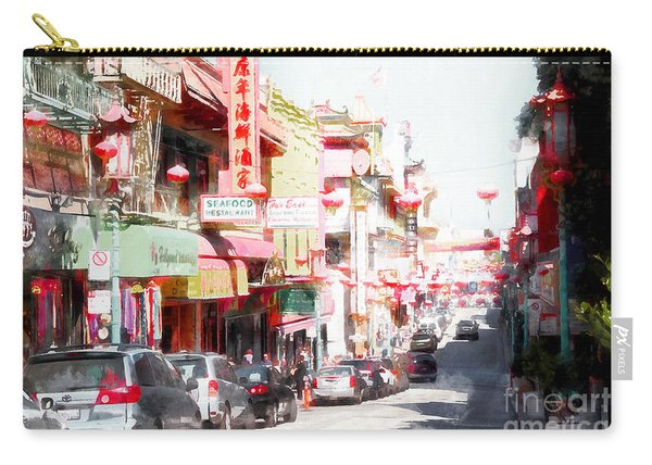 Chinatown Gate On Grant Avenue In San Francisco 7d7175wcstyle Carry-all Pouch