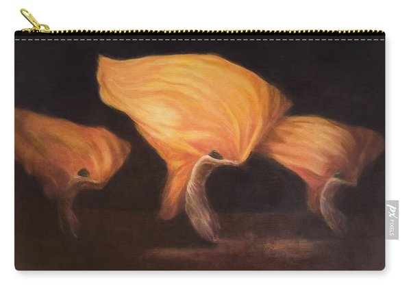 Chinese Dancers, 2010 Acrylic On Canvas Carry-all Pouch