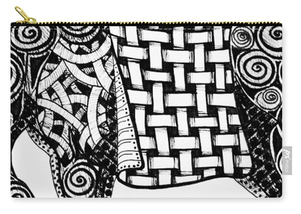 Chinese Horse - Zentangle Carry-all Pouch