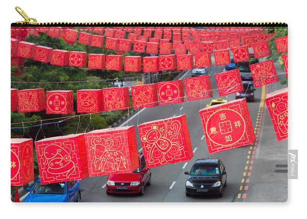 Chinese Lanterns Hanging During Chinese Carry-all Pouch