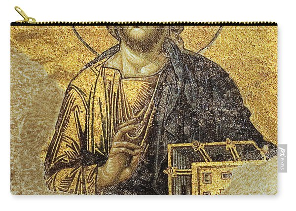 Christ Pantocrator-detail Of Deesis Mosaic Hagia Sophia-judgement Day Carry-all Pouch