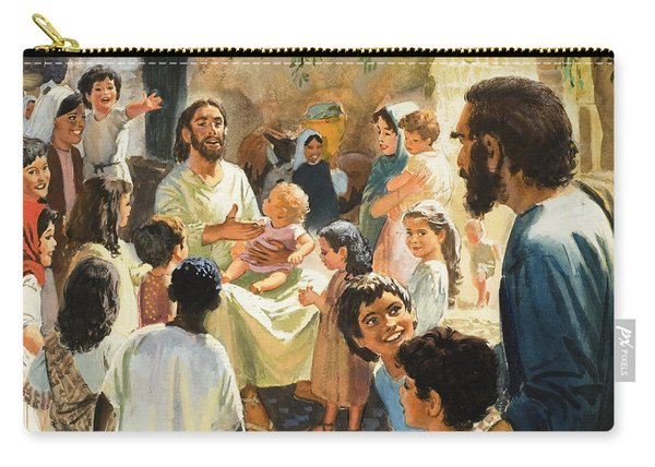 Christ With Children Carry-all Pouch