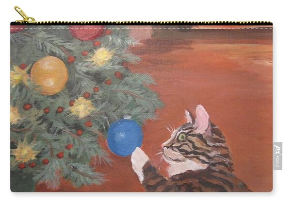 Christmas Kitty Cat Carry-all Pouch