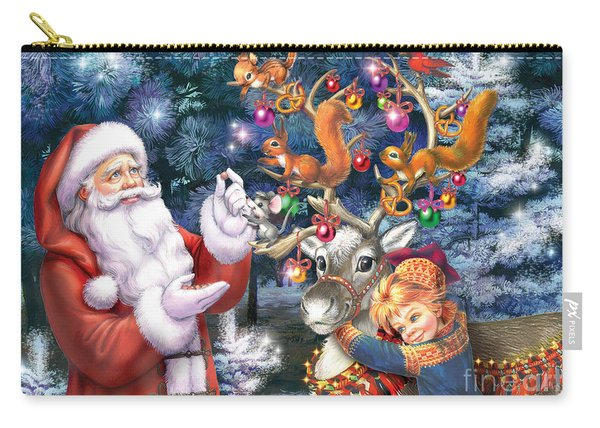 Christmas Tree-rudolph Carry-all Pouch