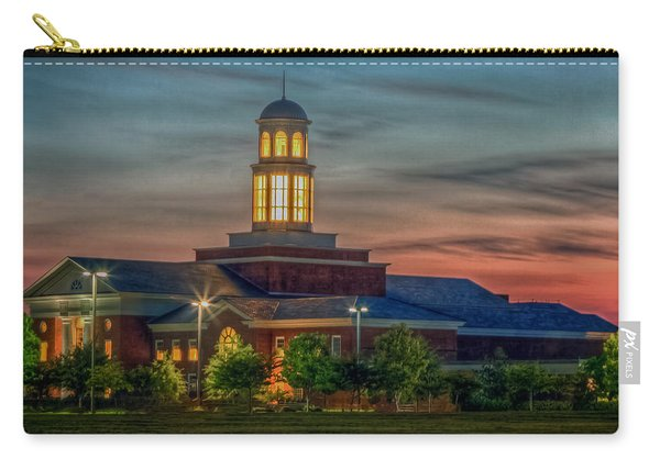 Christopher Newport University Trible Library At Sunset Carry-all Pouch