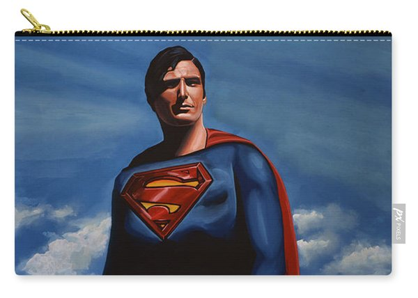Christopher Reeve As Superman Carry-all Pouch