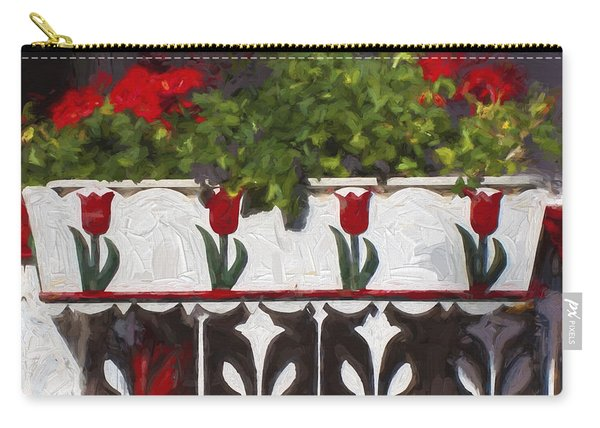 Church Camp House Detail Painterly Series 6 Carry-all Pouch