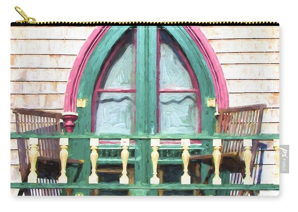 Church Camp House Detail Painterly Series 8 Carry-all Pouch