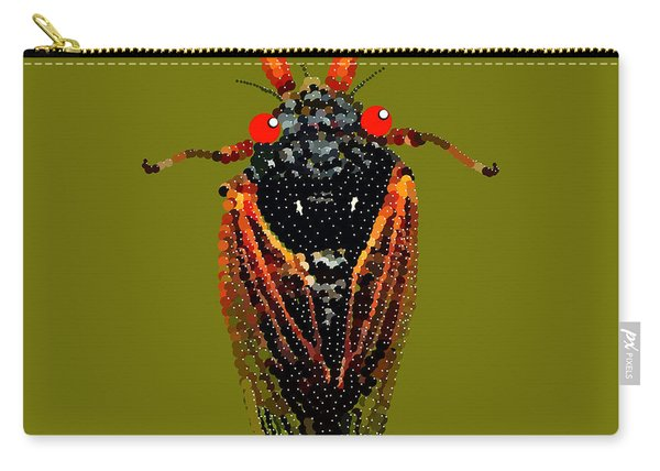 Cicada In Green Carry-all Pouch