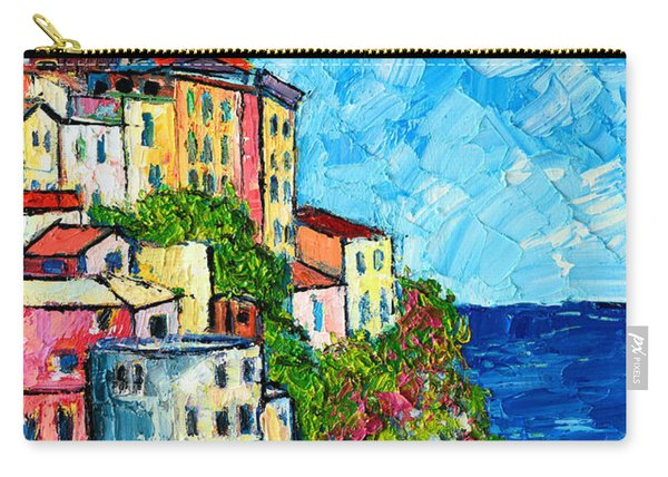 Cinque Terre Italy Manarola Painting Detail 3 Carry-all Pouch