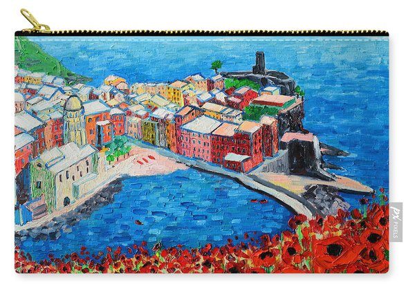 Cinque Terre Vernazza Poppies Carry-all Pouch