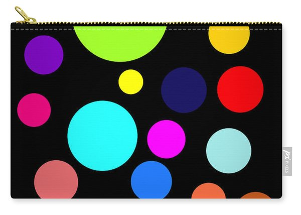 Circles On Black Carry-all Pouch