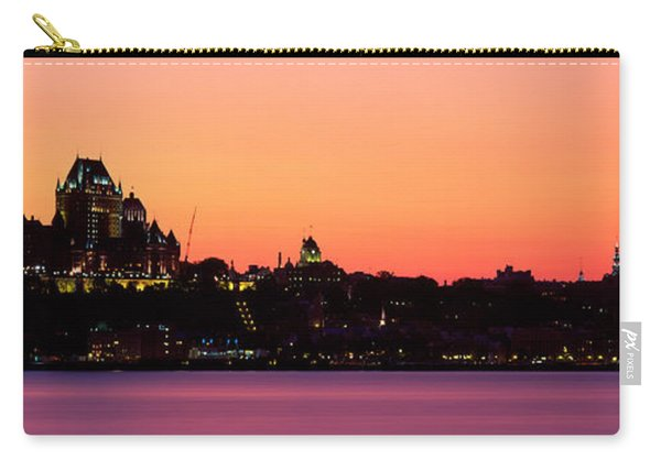 City At Dusk, Chateau Frontenac Hotel Carry-all Pouch