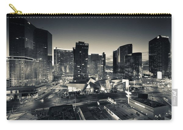 City Lit Up At Dusk, Citycenter Las Carry-all Pouch
