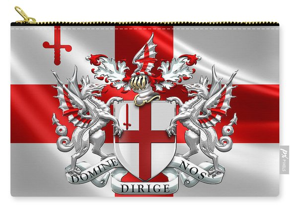 City Of London - Coat Of Arms Over Flag  Carry-all Pouch