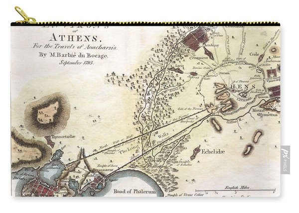 City Plan Of Athens In Ancient Greece Carry-all Pouch