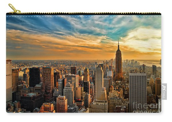 City Sunset New York City Usa Carry-all Pouch