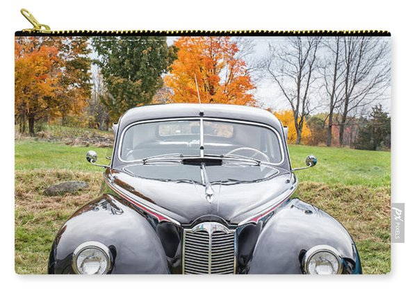 Classic Car In Autumn Farm Field Carry-all Pouch