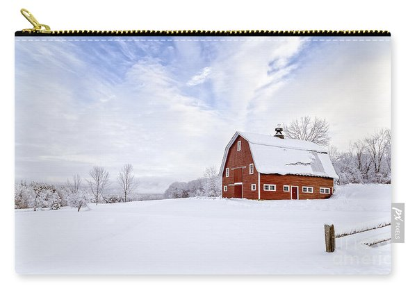 Classic New England Red Barn In Winter Carry-all Pouch