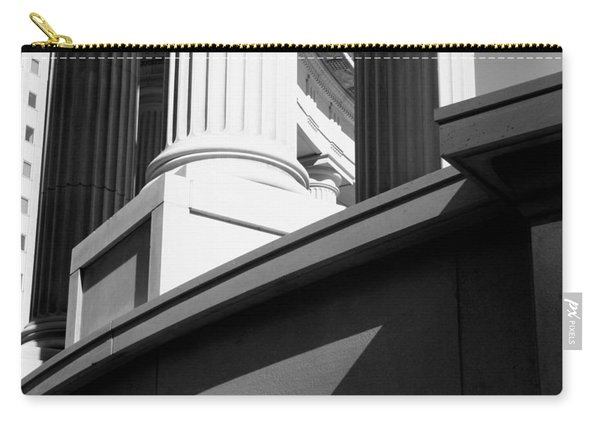 Classical Architectural Columns Black White Carry-all Pouch